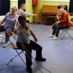 Seniorenfit - Elastiek op stoel